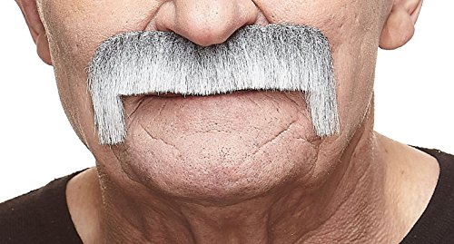 Wide Latin gray with white moustache (Quality Fake Moustache)