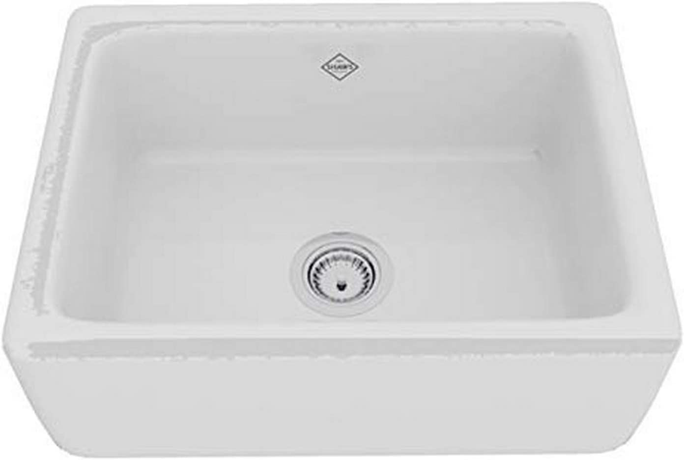 Rohl RC2418WH FIRECLAY KITCHEN SINKS, 24-Inch by 18-Inch by 10-Inch, White