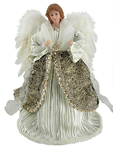 Santa's Workshop Shimmering Angel Tree Topper, 16