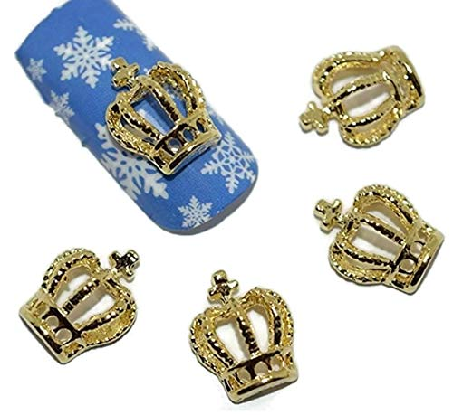 Charm 3D Gold Crown Nail Art Decor Phone Scrapbooking Decorations ()