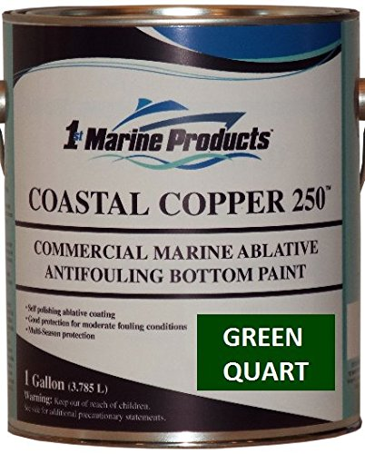 (US Marine Products Coastal Copper 250 Ablative Antifouling Bottom Paint Green Quart)