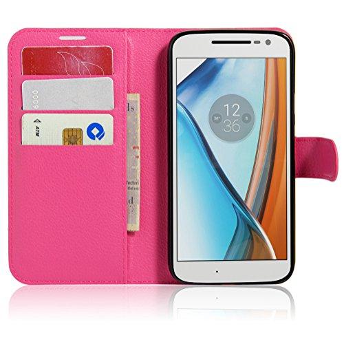 Funda Motorola MOTO G4 Play,Manyip Caja del teléfono del cuero,Protector de Pantalla de Slim Case Estilo Billetera con Ranuras para Tarjetas, Soporte Plegable, Cierre Magnético G