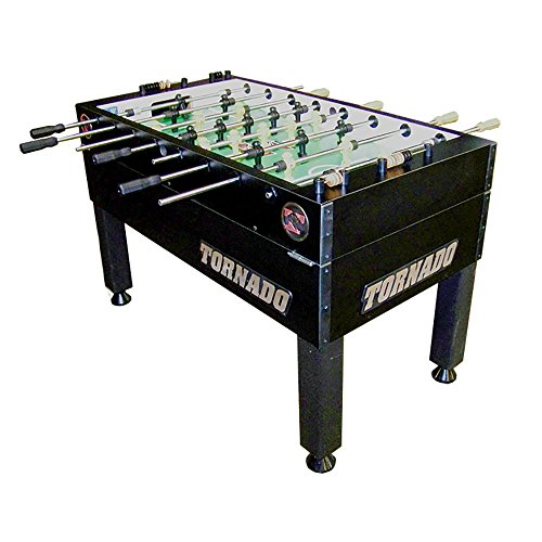 Tornado Tournament 3000 Foosball Table with Single Black Goalie and Abacus Scoring Unit with Game Count Score