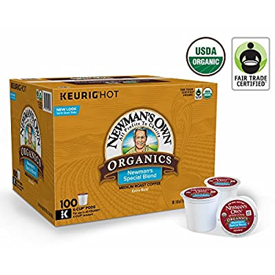 Newman's Own Organics Keurig Single-Serve K-Cup Pods Newman's Special Blend Medium Roast Coffee, (Special Blend, 100 K-Cups)