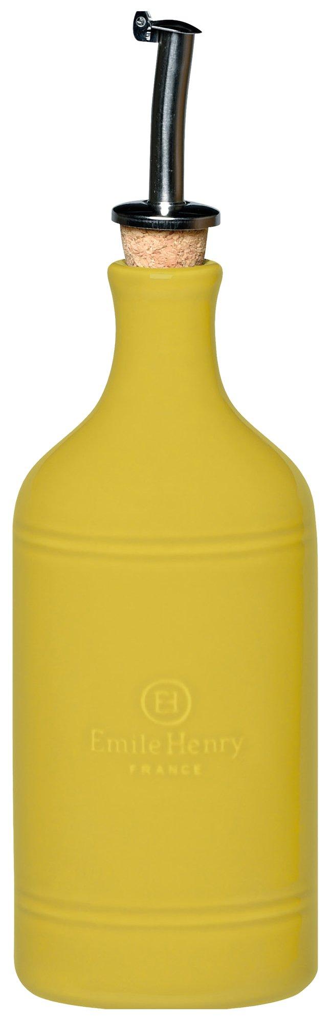 Emile Henry 850215 HR Ceramic Oil Cruet Bottle, Leaves