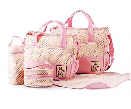 LCY 5piezas cambiador de bebé Set de bolso rosa rosa rosa