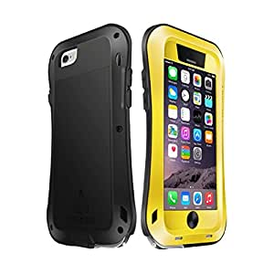 Protection&personality LOVE MEI for iPhone 6 Plus Metal Ultra-thin Small Waist Waterproof Dustproof Shockproof Powerful Protective Case ( Color : Yellow )