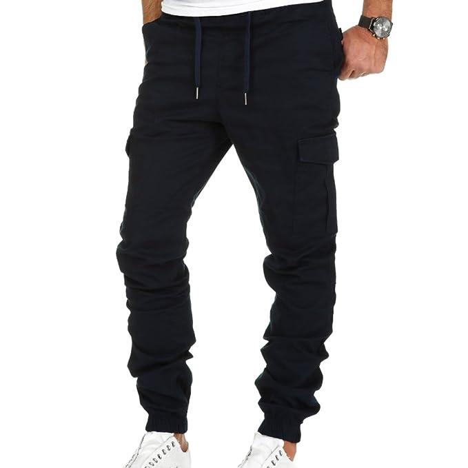 d9e3a9fd3c5 Highdas Hombre Pantalon Cargo Pantalones Casuales Pantalones de Trabajo(Caqui,  Gris, Verde,