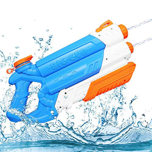 JoinJoy Water Gun Up to 32 FT Away High Capacity Squirt Guns for Kids Adult, Water Pistol for Swimming Pool Beach Sand Water Fighting Toy