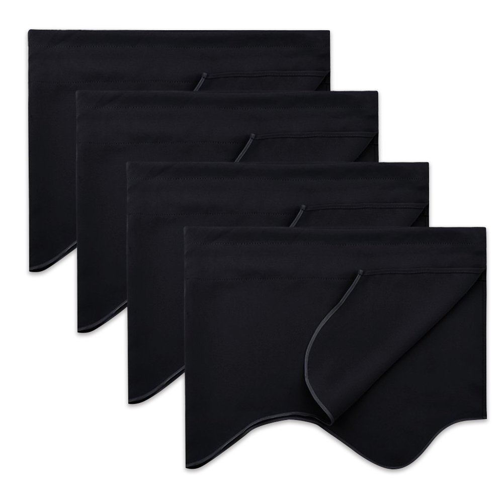 NICETOWN Window Dressing Blackout Curtain - W52 x L18 Energy Efficeient Rod Pocket Valance Window Treatment for Boy's Room, Black, 1-Pack Nicetown_Valance