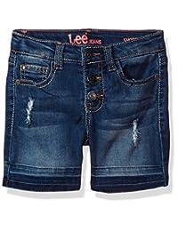 Lee pantalón Corto con Dobladillo Suelto para niñas