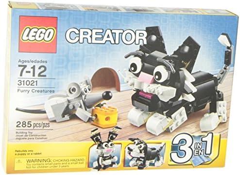 LEGO 3 in 1 CREATOR 285 pcs Set 31021 Furry Creatures Cat Mouse Dog or Rabbit!