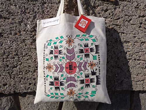NEW Hand Painted Bulgarian Embroidery tote bag,Folk tote bag,Tote bag from Bulgaria,Traditional Bulgarian Bag.