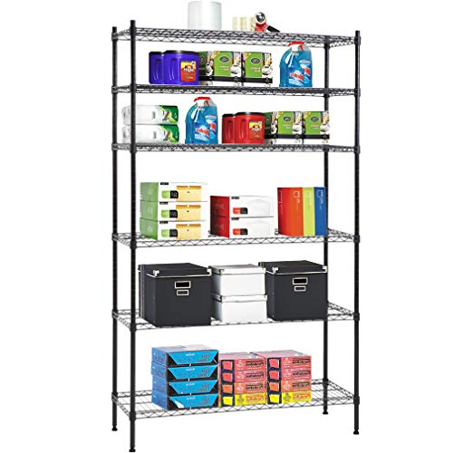 "Heavy Duty 82""x48""x18"" 6 Tier Shelf Adjustable Wire Metal Sh"