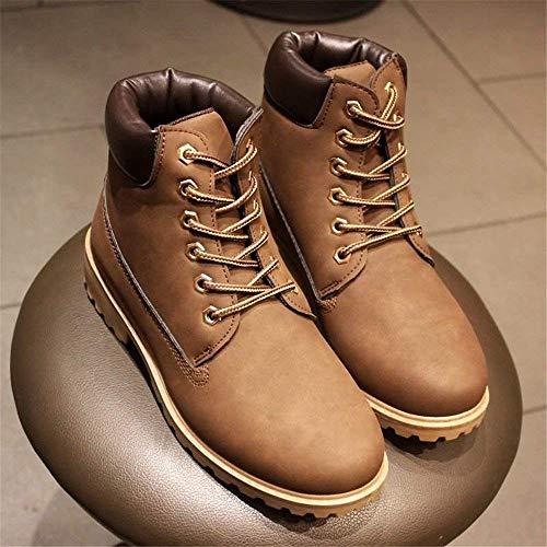 Chaussures Taille 40 Eu Fuxitoggo Hommes 42 Bottines Camouflage Marron Taille Rose couleur Lacets Talon Pour Pointu coloré Bout À Épais f0CxTfUq