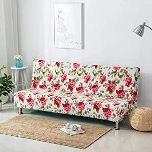 Home Decor,Elastic Stretch Sofa Bed cover Whitout Armrest,Floral Design