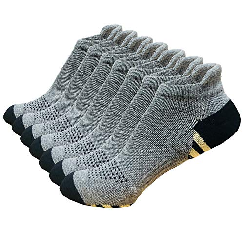 Copper Compression Running Socks Cushioned Women Men 7 Pairs (Grey 7 Pairs Copper,L/XL)