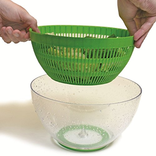 Ozeri Swiss Designed FRESHSPIN Salad Spinner and Serving Bowl, BPA-Free