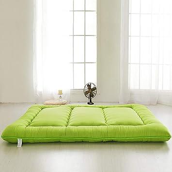 ASDFGH Tradicional japonés Que Colchones de futon, Lana de pulir Colchón Tatami Plegable Estera de meditación Ultra Soft Espesar Futon colchón-Verde King: ...