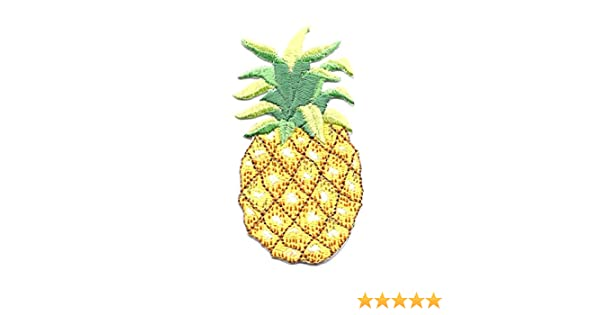"Fruit Pineapple 3/""H Tropical Embroidered Iron On Applique Patch"