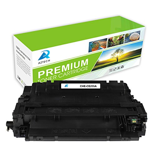 AZTECH 1 Pack 6,000 Pages Yield Black Compatible Toner cartridge Replaces HP 55A CE255A CE255 For HP LaserJet P3011 LaserJet Enterprise P3016 P3015d P3015Dn LaserJet Enterprise 500 MFP M525dn M525f