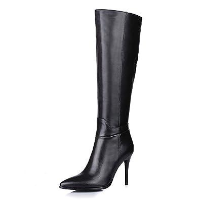 18afbe992db Amazon.com   Amarantos Women's Pointed Toe Side Zipper Sexy Stiletto ...