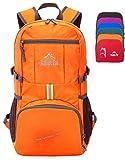 Venture Pal 35L Travel Backpack - Packable Durable Lightweight Hiking Backpack Daypack (Orange)