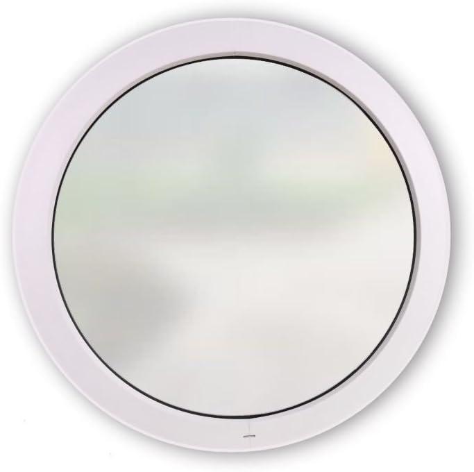 /Ø: 820 mm 2-Fach Verglasung 60 mm Rahmenprofil Festelement Satinato Milchglas Rundfenster