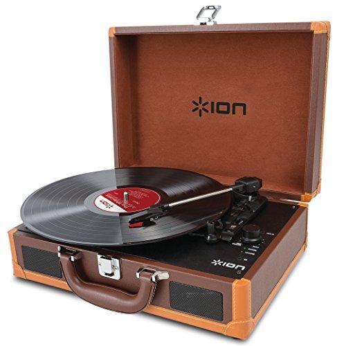 ION Audio Vinyl Motion Deluxe | Portable 3-Speed Belt-Drive