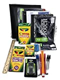 Back to School Supplies Bundle Deluxe 28 Items: Middle, High School Or College (Black)
