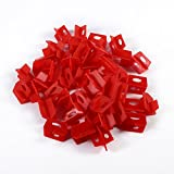 50Pcs 1/16'' Tile Leveling System Red 3 Side Spacer Cross And T Shape Ceramic Floor Wall Tools