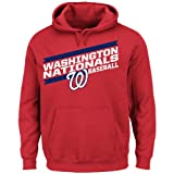 MLB Men's Back the Field Fleece Hooded Sweater, Team Color