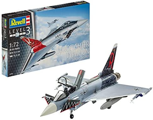Revell Eurofighter Typhoon Single Seater, Kit de Modelo, Escala 1:72 (3952) (03952), 15,5cm: Amazon.es: Juguetes y juegos