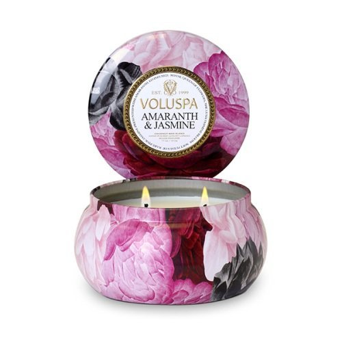 Voluspa Maison Jardin Collection, 2 Wick Metallo Candle, Amaranth and Jasmine, 11 oz by Thinkpichaidai