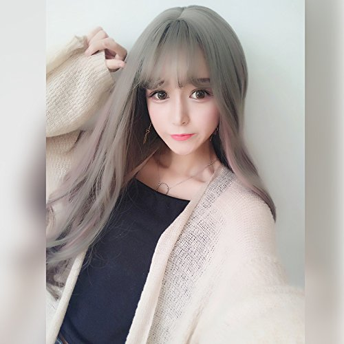 Amazon South Korean Women Girls Female Long Hair Wig Round