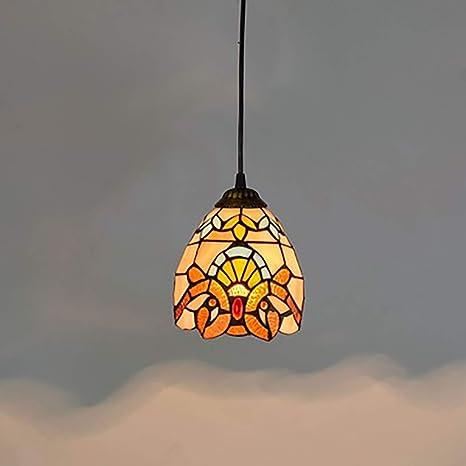 Lámpara colgante estilo barroco de Tiffany, lámpara de techo ...
