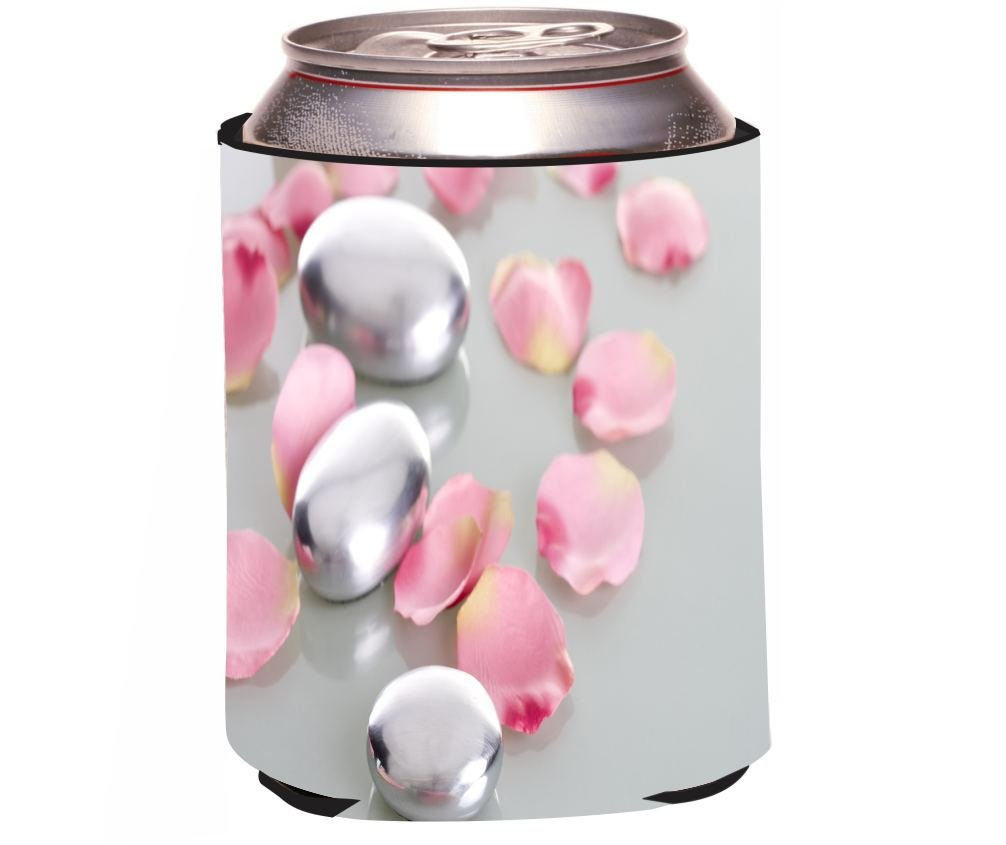 Rikki Knight Beer Can Soda Drinks Cooler, Spa Stones with Rose Petals Design