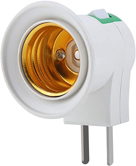 Ceramic Screw Durable Round Home Use Socket Adapter with Cable Heat Resistant for Bulb Easy Install Holder Lamp Base