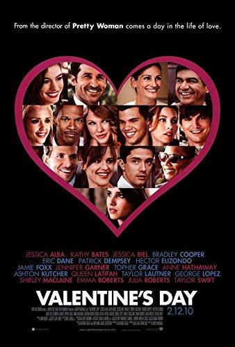 Valentine's Day POSTER Movie (2010) Style A 27 x 40 Inches - 69cm x 102cm (Taylor Lautner)(Bradley Cooper)(Anne Hathaway)(Taylor Swift)(Jessica Biel)(Jessica Alba)(Jamie - Style Anne Hathaway