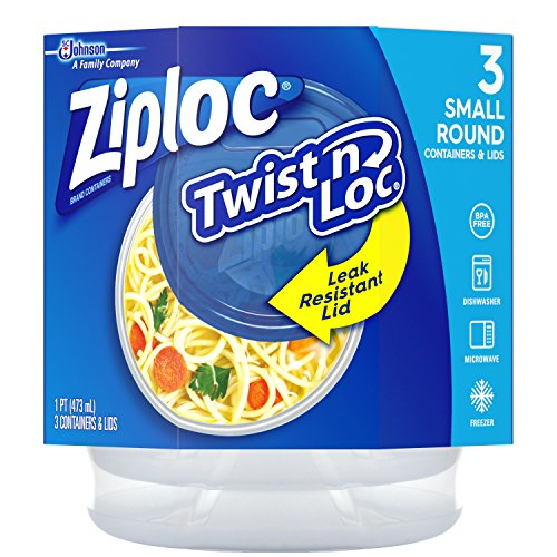 Ziploc Twist 'n Loc Food Storage Container With Leak-Resista