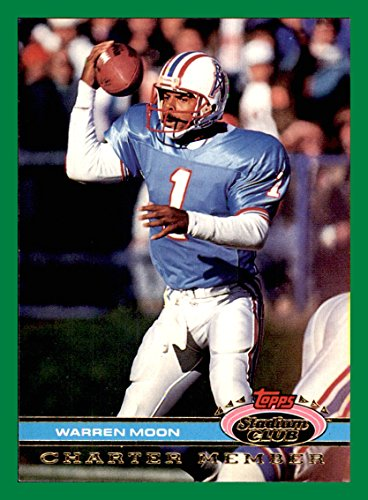 1991 Stadium Club Charter Member #36 Warren Moon HOUSTON OILERS