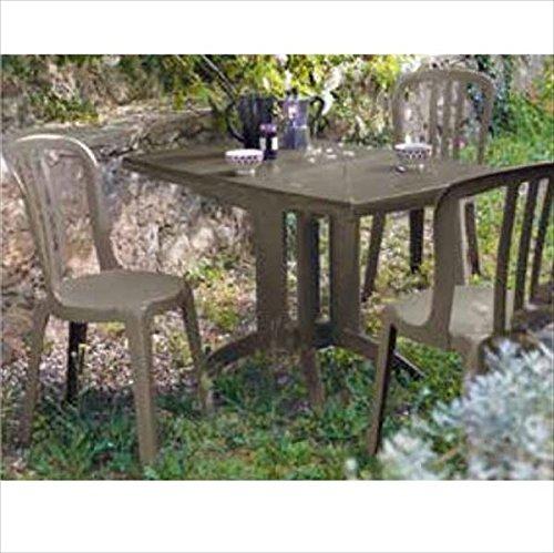 タカショー ベガ/ビストロ テーブルチェア4点セット 『ガーデンチェア ガーデンテーブル セット』 B075WT4ZNR