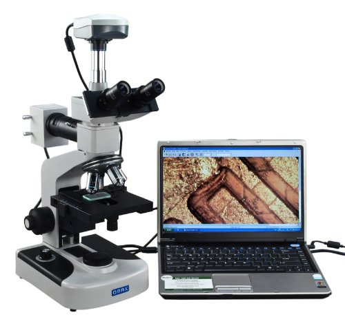 OMAX 40X-1600X Digital Trinocular Metallurgical Microscope with Double Layer Mechanical Stage and 9.0MP USB Camera by OMAX
