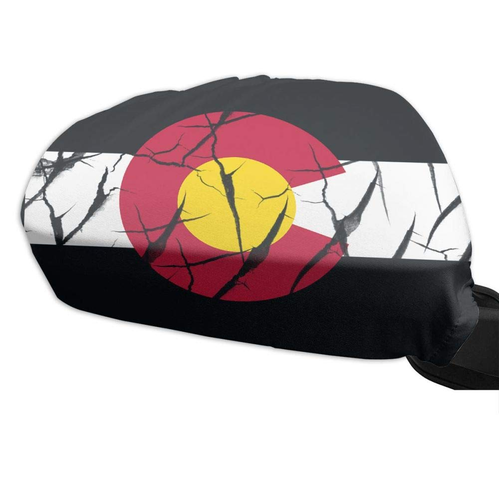 Iznwbbqsws Colorado State Flag Side View Mirror Covers (Set of 2) Fits Most Cars & Small SUV's