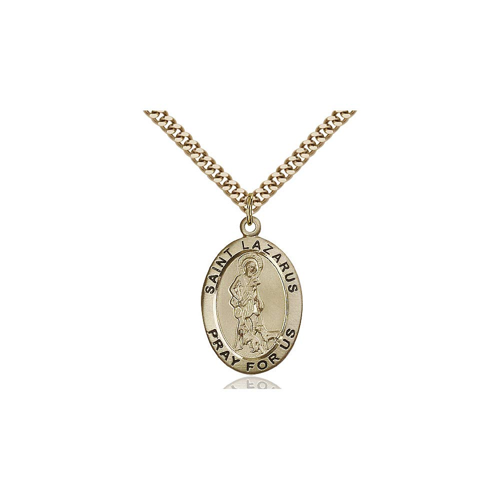 DiamondJewelryNY 14kt Gold Filled St Lazarus Pendant