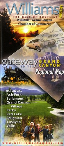 Williams, Arizona - Gateway to the Grand Canyon Regional Map