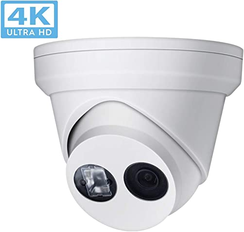 8MP 4K UltraHD Outdoor Security POE IP Camera DT385-I OEM DS-2CD2385FWD-I ,2.8mm fixed Lens Turret camera,EXIR