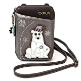 Chala Wallet Crossbody Cell Phone Purse-Women Faux Leather Multicolor Handbag with Adjustable Strap - Polar Bear Pewter