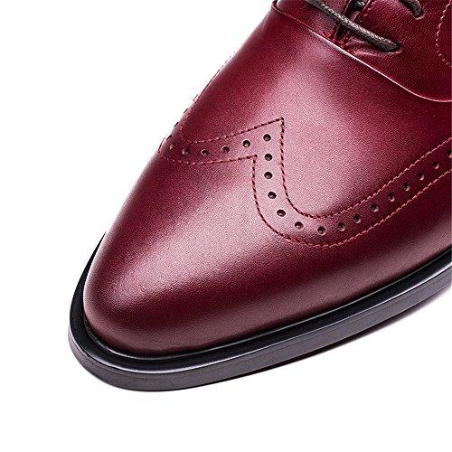 M Design Shoes Brogues Wine for Oxford Classical H Exquisite Men Semi Red J OvwdZqxaq