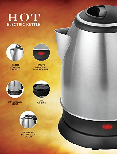 Pigeon by Stovekraft 12466 1.5-Litre Electric Kettle (Multicolor)